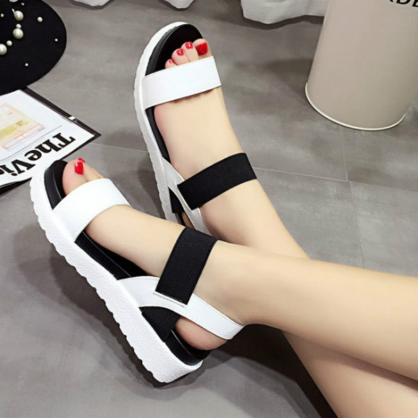 2017 New shoes Summer sandals women peep-toe sandalias flat Shoes Roman sandals shoes woman mujer Ladies Flip Flops Footwear 810 - EnsoStore