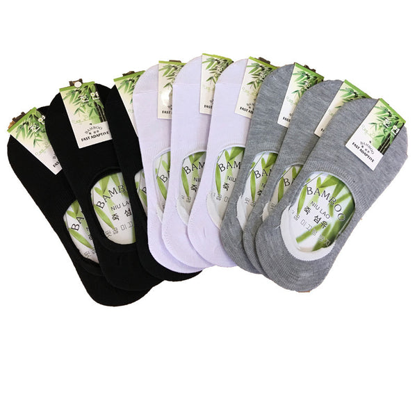 6pcs=3pairBoat Socks New Hot Sale Summer Style Women Low Socks Brand Quality Invisible Cotton Socks Slippers Calcetines De Mujer-Enso Store-Black-One Size-Enso Store