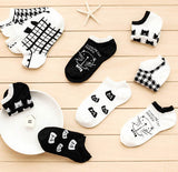 CAT Women's socks Ankle Low 1pair=2pcs WS66-Enso Store-ws66 random style-One Size-Enso Store