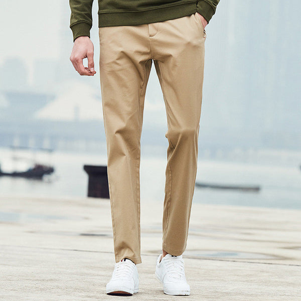 Pioneer Camp New arrival Spring casual pants men brand-clothing fashion straight men pants top quality male trousers-Men's Pants-Enso Store-Khaki-29-China-Enso Store