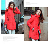 Plus size Candy color Slim Cotton coat women Parka 6XL Autumn winter jacket Women Thick Hooded Cotton-Padded Jacket TT1685C-Enso Store-red-L-Enso Store
