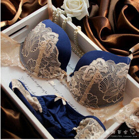 SORRYNAM Intimates Sexy Bra And Set Lace Lingerie 20151126-Women's Bras-Enso Store-Blue-B-32-Enso Store