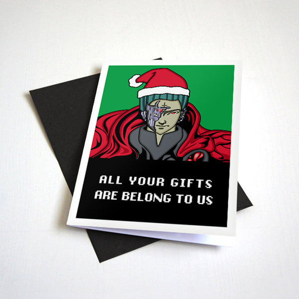 All Your Gifts Are Belong To Us - Oldschool Meme Christmas Card