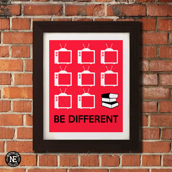 Be Different - Read Books Poster