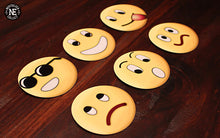Classic Emoji 6 Pack Magnet Set: Happy, Sad, Smiley Face
