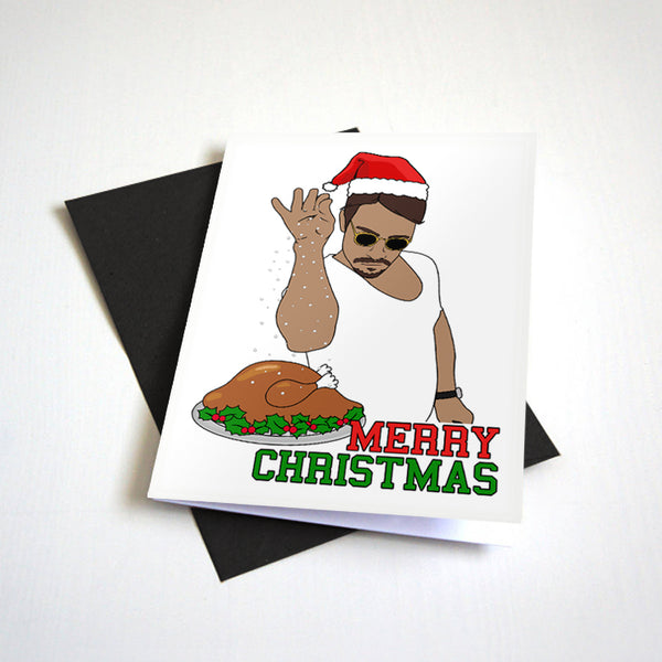 Salt Bae Christmas Turkey - Meme Christmas Card