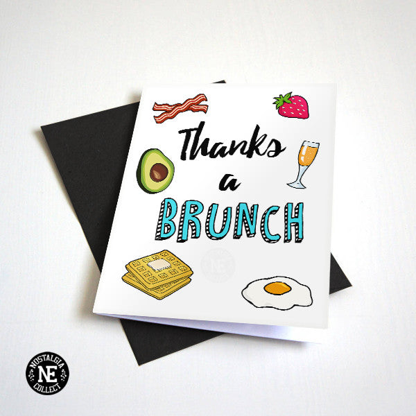 Thanks A Brunch - Breakfast Theme Thank You Card