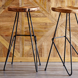 Chicago-Saddle+Shape+Iron+Barstool Set of 2 picture