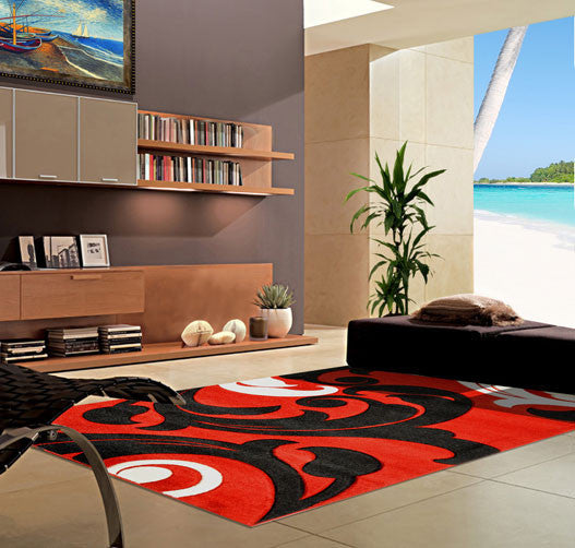 V1003 Dark Red Area Rug