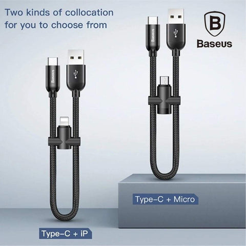 Baseus USB Type C Cable with OTG Adapter for iPhone Micro USB Cable - Phonecase.PK