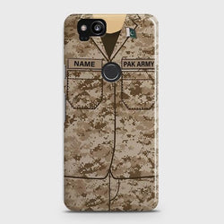 Google Pixel 2  Army Costume  With Custom Name Case - Phonecase.PK