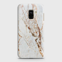 SAMSUNG GALAXY A8+ (2018) White & Gold Marble  Case