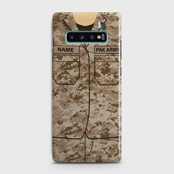 SAMSUNG GALAXY S10 Plus Army Costume WIth Custom Name Case