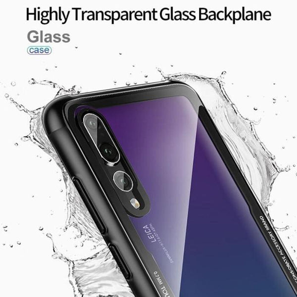 Huawei P20 Lite Hybrid Glass Back Shock Proof Case - Phonecase.PK
