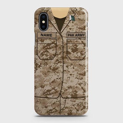 iPhone XS Max Army shirt with Custom Name Case