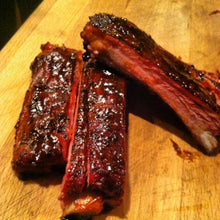 We're known for our delicious ribs.  Dry rubbed and smoked 6 hrs with hickory wood.