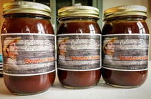 Our delicious Bourbon Peach sauce.  Using fresh peaches in every small batch!