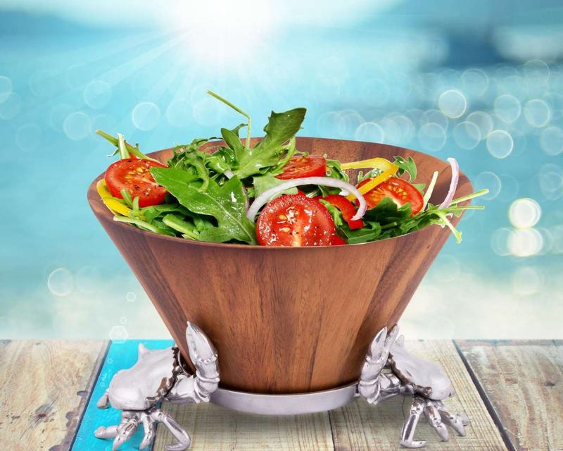 Crab Wood Tall Salad Bowl from Arthur Court Designs
