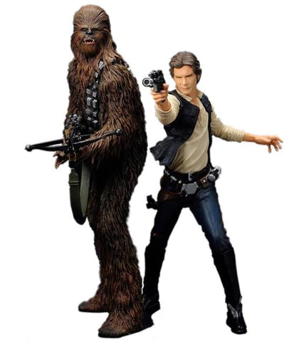 Star Wars Han Solo and Chewbacca ARTFX+ 2 pack Statues - SW88