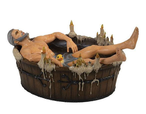 The Witcher 3 Wild Hunt Statue Geralt in the Bath 9 cm (PRE-ORDER)