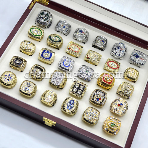 Ring Set - All 52 Super Bowl Championship Replica Rings Set (1966 - 2018)
