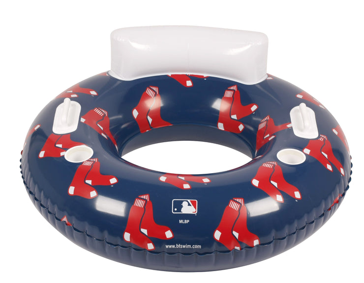 MLB Boston Red Sox 48-inch Pool Tube Float with Team Logo Repeat Design