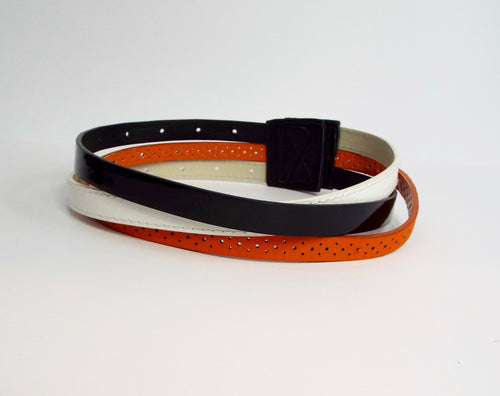 Triple Belted Black/Orange/White Band