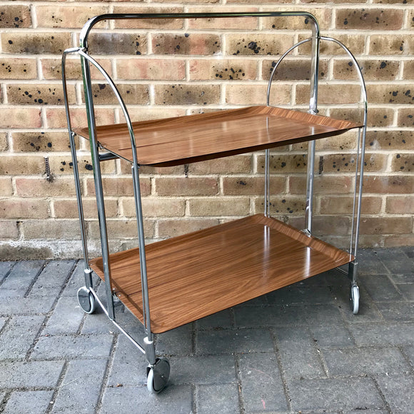 MCM folding serving cart
