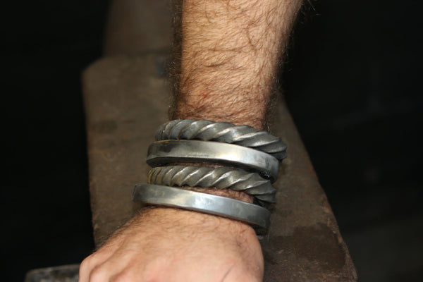 Stack of four cuffs