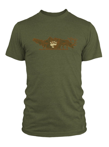 RepYourWater Backcountry Hunters Anglers Tee Front Green