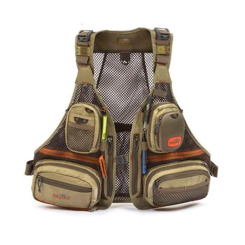 fishpond sagebrush mesh fly fishing vest driftwood front