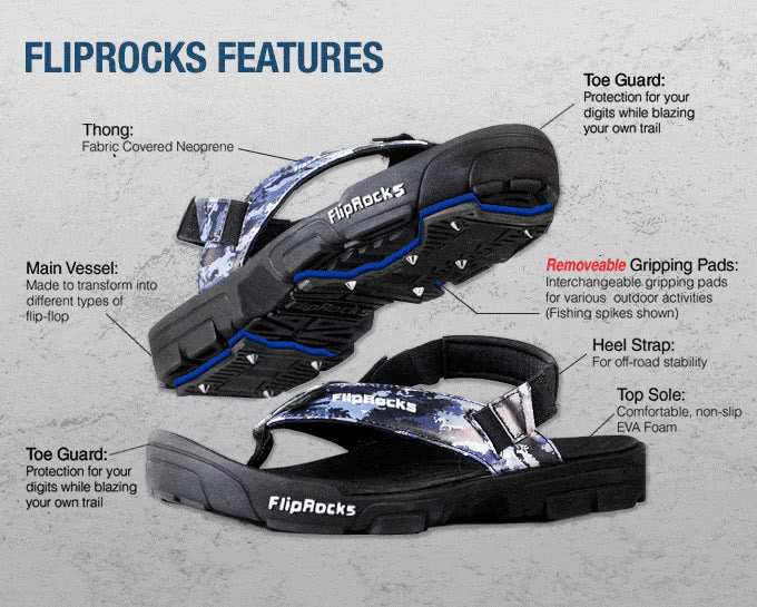 Fliprocks Sandals - Sandals with interchangeable soles