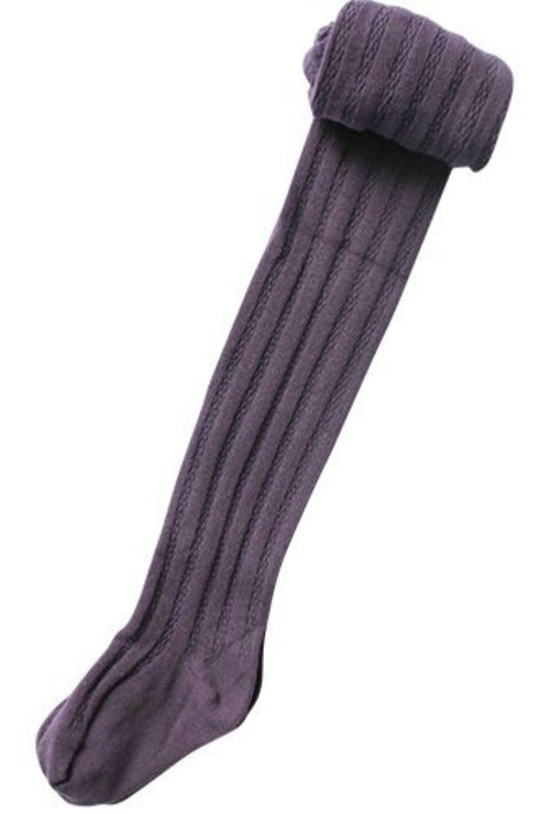 Grape Cable Knit Tights