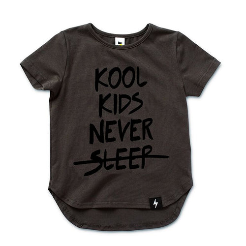 Kool Kids Drop Back T-shirt - Charcoal