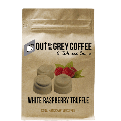 White Chocolate Raspberry Truffle Flavored Organic Coffee - Out Of The Grey Coffee