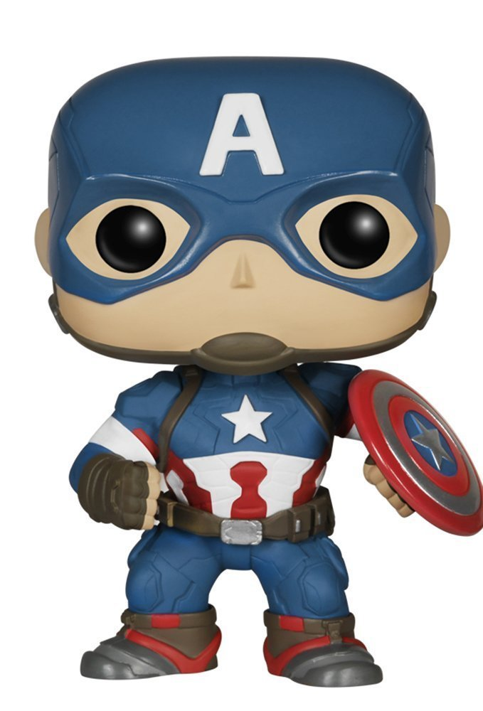 MARVEL AVENGERS: AGE OF ULTRON CAPTAIN AMERICA FUNKO POP! VINYL BOBBLE HEAD FIGURE #67