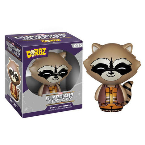 MARVEL GUARDIANS OF THE GALAXY ROCKET RACCOON VINYL SUGAR FUNKO DORBZ ACTION FIGURE #015  [BOX DAMAGED]