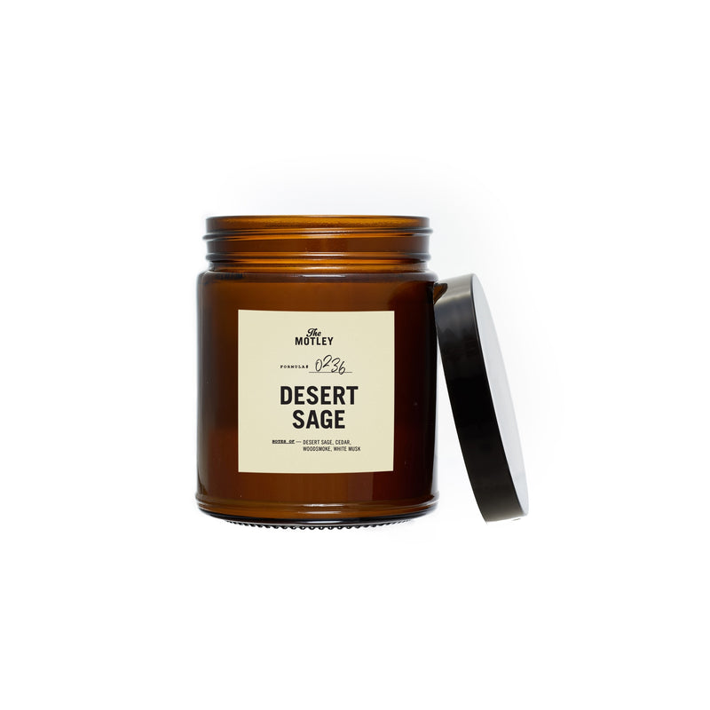 The Motley DESERT SAGE 100% Soy Wax Candle