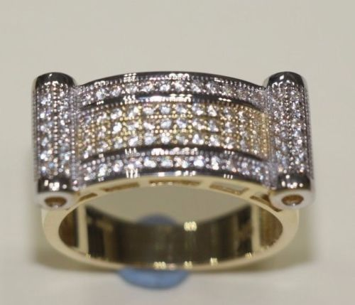 9 CT Gold Ring Unique Design with CZ Stones - SD JEWELS