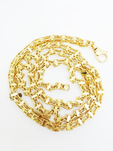 9ct Solid Gold Cage Style Chain - SD JEWELS