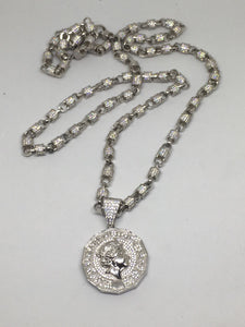 Pound Coin Pendant and Chain Combo - SD JEWELS