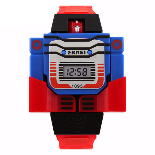 Boys Transformer Watch - Red Strap - from Kids Watches NZ