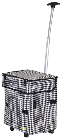 Bigger Smart Cart - Houndstooth - Trolley Dolly  Cart - Storage & Organization,dbest products - dbest products, Inc