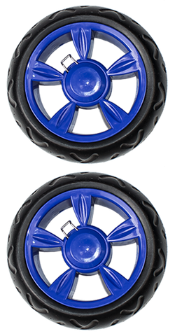 Two Beefy Wheels Replacement - Blue - Trolley Dolly  Replacement - Storage & Organization,dbest products, Inc - dbest products, Inc