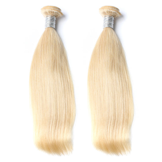 Luxury 10A 613 Blonde Straight Hair 2 Bundles