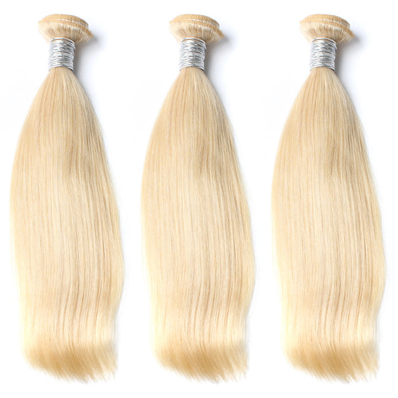 Luxury 10A 613 Blonde Straight Hair 3 Bundles