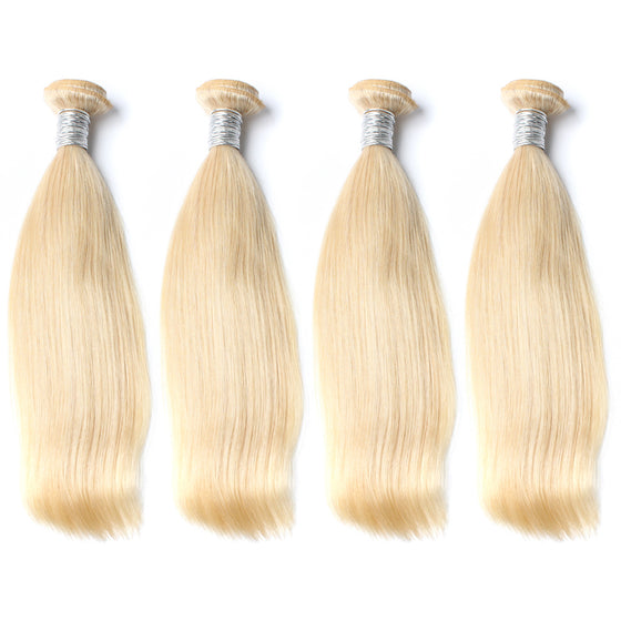 Luxury 10A 613 Blonde Straight Hair 4 Bundles