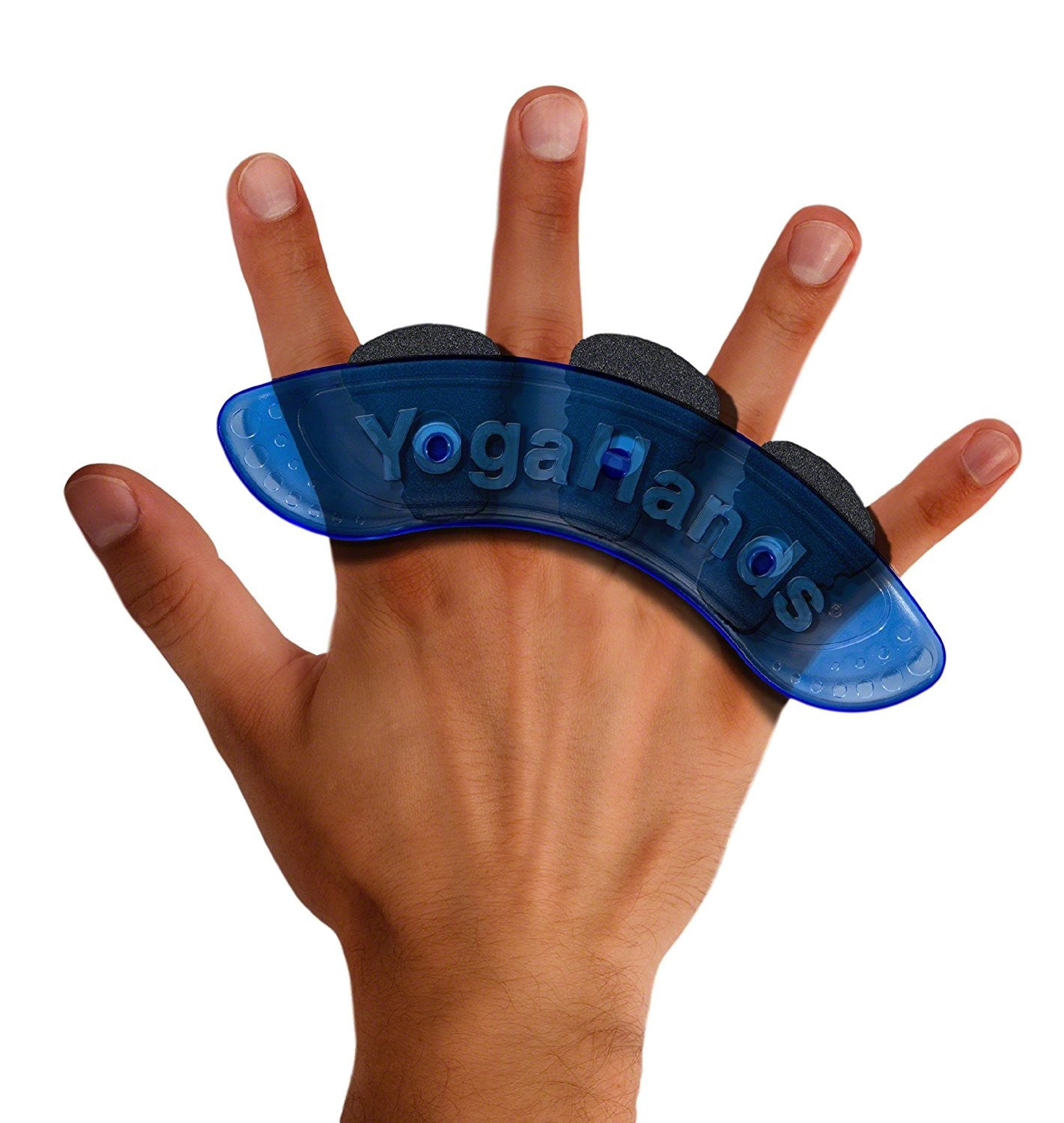 spread fingers in YogaHands wrist and hand exerciser device