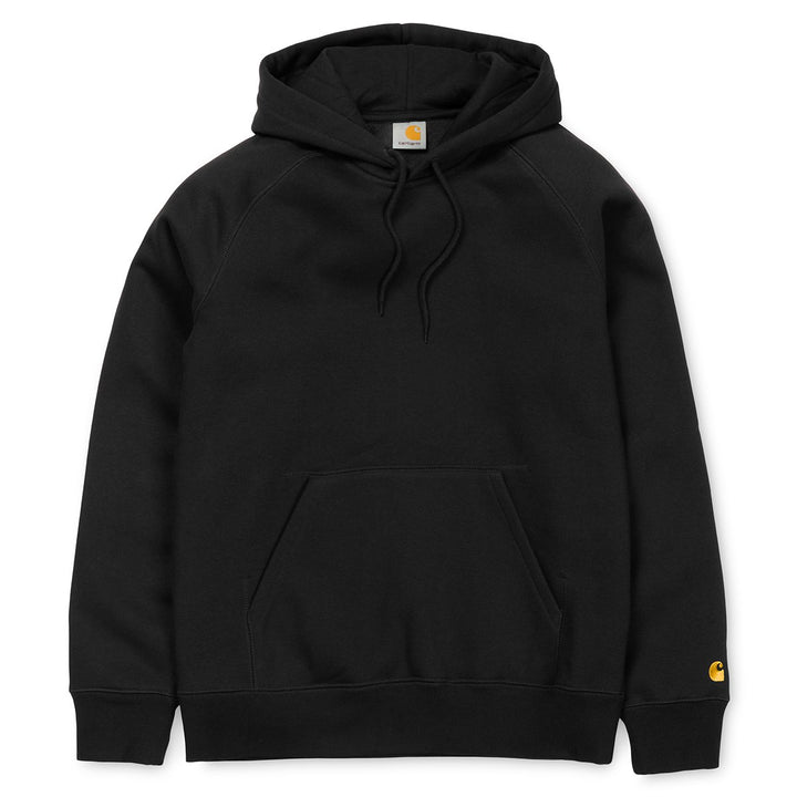 Carhartt Hooded Chase Sweatshirt Black - Pict Clothing