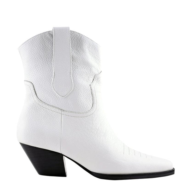 Allister White Tumbled Boots